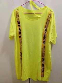 潮款潮牌黃色T-shirt