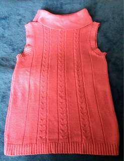 Turtleneck sleeveless pink