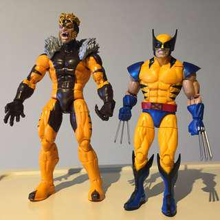 "6"" Marvel Legends X-Men Wolverine & Sabretooth set of 2"