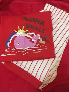 日本可愛小鯨魚睡衣