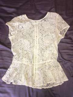 Top shop lace see through shirt - size 6