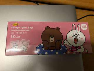 Line Friends Storage Zipper Bags