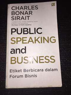 "Buku ""Public Speaking & Business"" by Charles Bonar Sirait"