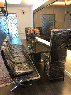 REDUCED : Dining set table with 8 chairs was 3k now 2.5k