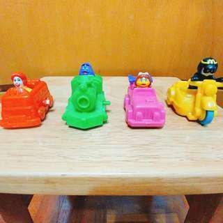 絕版 2000年 麥當勞Mc Donald 玩具 上鏈車仔 一套