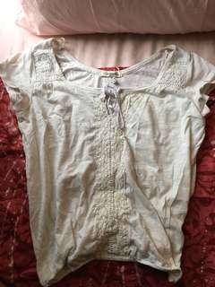 Aeropostale White Blouse Top