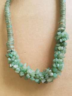 Green Coral Handmade Necklace