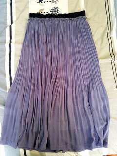 Cache Cache Chiffon Pleated Skirt