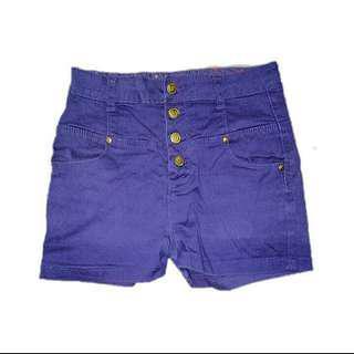 High Waisted Violet Shorts