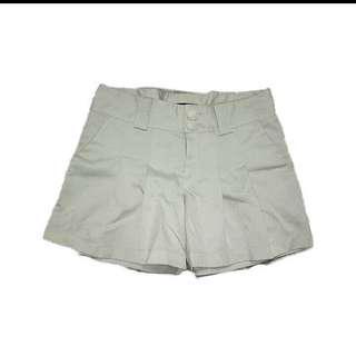 White Satin Shorts