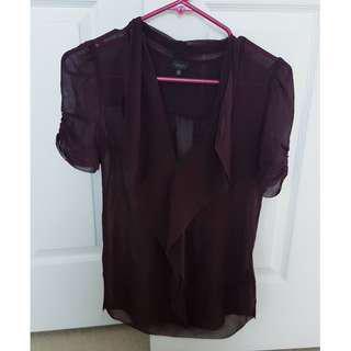 Aritzia T.Babaton 100% silk blouse