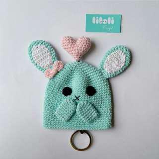 Bunny key cover pelindung kunci handmade