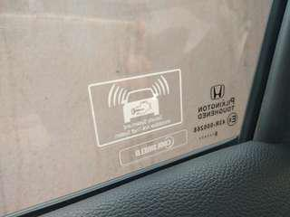 Honda Immobilizer Anti Theft Sticker