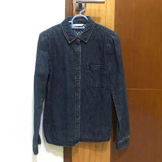 Dark blue jeans shirt