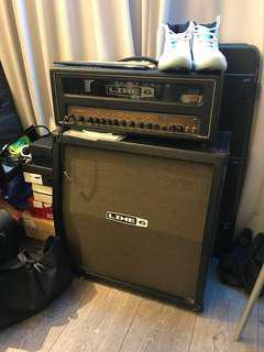 Line 6 spider valve MK II 100 guitar AMP with cab