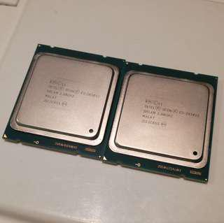 🚚 Intel Xeon E5-2630 v2, Matching Pair CPUs, 12c/24t Total, Like new condition, Working on X79, C602, C606 Motherboard