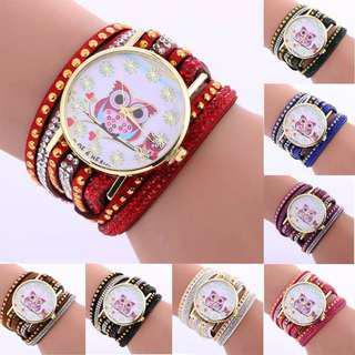 Brand new Fashion owl watch bracelet (instock)