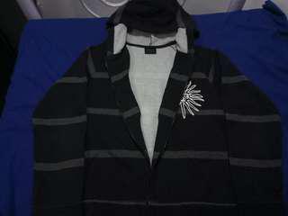 Brand R Navy Blue/Gray Hoodie (Medium)
