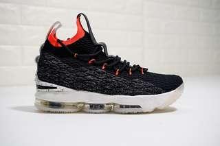 0a9e49cadf06 Original Nike LeBron 15 Black Orange White
