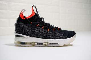 best service ee798 79432 Original Nike LeBron 15 Black Orange White