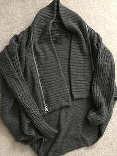Maison Scotch Loose Grey Winter Sweater Size 1