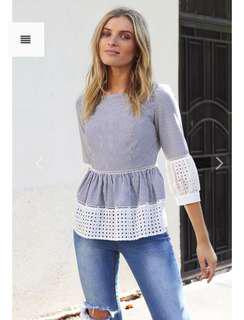 Frankie and Co lace sleeve top