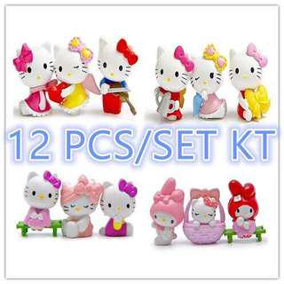Hello Kitty Figures Set of 12