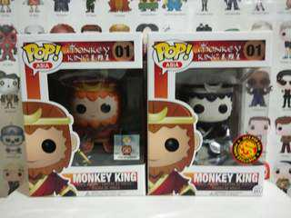 Funko Pop Monkey King Black White Convention Exclusive Vinyl Figure Collectible Toy Gift Asia Journey To The West