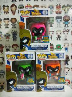 Funko Pop Marvin Martian Neon Green Magenta Pink Orange Exclusive Vinyl Figure Collectible Toy Gift Limited Edition Animation Duck Dodgers