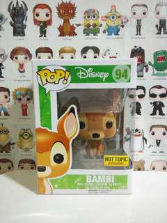 Funko Pop Flocked Bambi Hot Topic Exclusive Vinyl Figure Collectible Toy Gift Movie Disney Cartoon