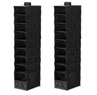 Hanging organizers (set of 2) - black