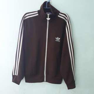 Vintage Adidas Track Suit/Jacket (Brown)
