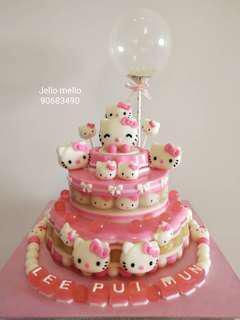 Hello Kitty 3 Tiers Jelly Cake