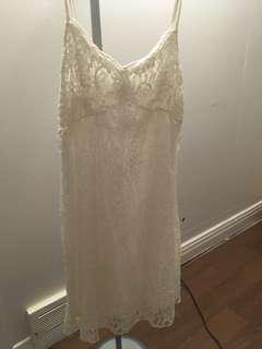 White abercrombie lace dress