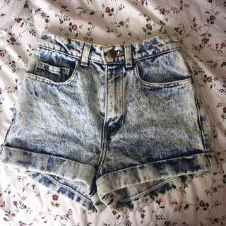 American Apparel acid wash shorts