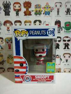 Funko Pop Snoopy Patriot Summer Convention Exclusive Vinyl Figure Collectible Toy Gift Cartoon Peanuts