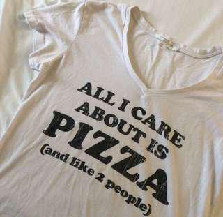 White Pizza Tee Shirt