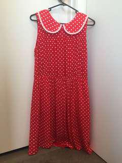 Pokka dot dress in mint condition