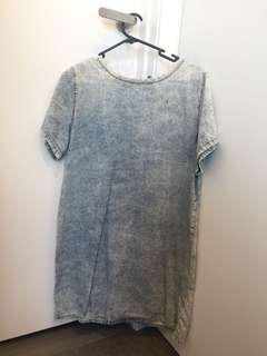 New look denim dress in good condition