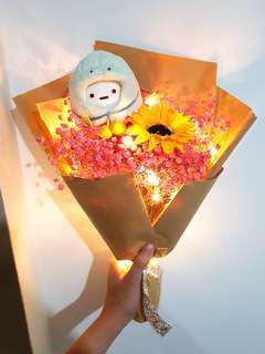 (Large) San-x led baby breaths bouquet