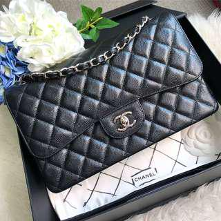 🌈Good Deal! Save 2k off retail!🌈 LOCAL RECEIPT! Brand New Chanel Jumbo in Black Caviar SHW