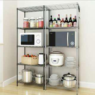 Storage Shelf Adjustable Tier Shelving Kitchen Rack