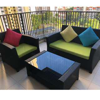 Outdoor Furniture (2 + 1 Sofa Set)