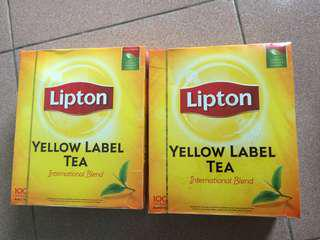 Lipton: Yellow Label Tea & Teh Halia.