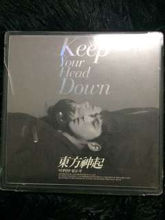 FREE SHIPPING TVXQ KEEP YOUR HEAD DOWN