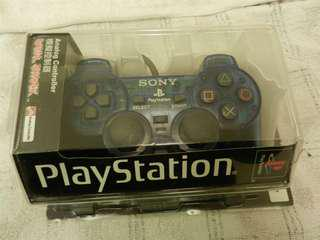 PS2 手把 搖桿 控制器 official blue transparent controller 95% new (PlayStation 2, Sony, cable, joystick)