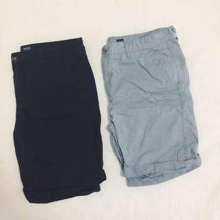 Cotton On Brunswick Shorts in Blue/Grey and Navy Sz. L / 34`
