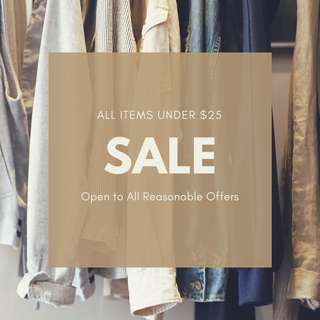 Men's Clothing Sale! Open to All Reasonable Offers