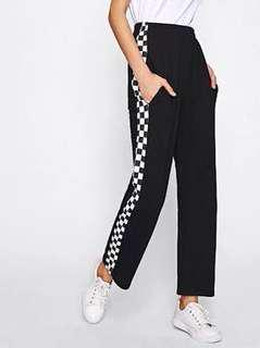 CHECKERED SIDE PANTS