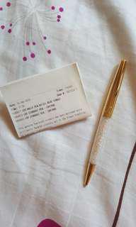 ☆ Swarovski Gold Crystal Stardust Pen
